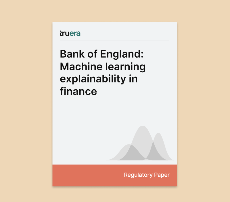 Bank of England Machine learning explainability in finance