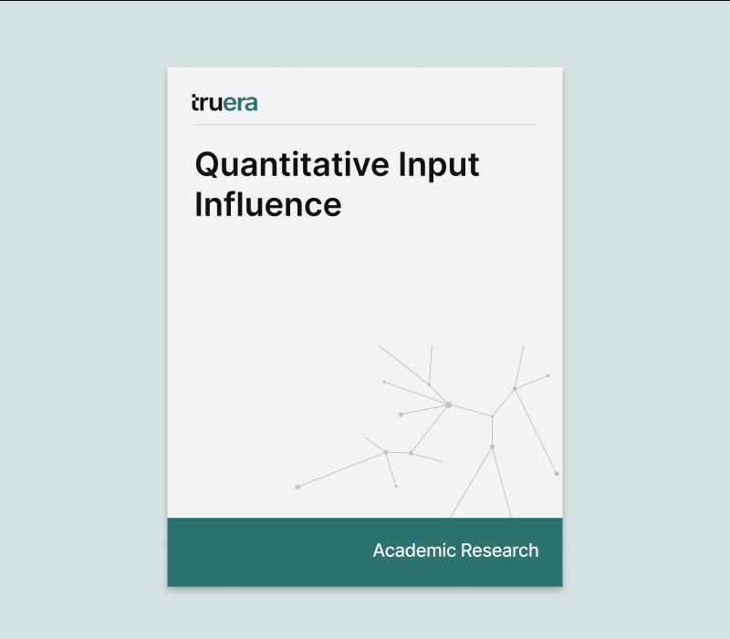Quantitative Input Influence 2016