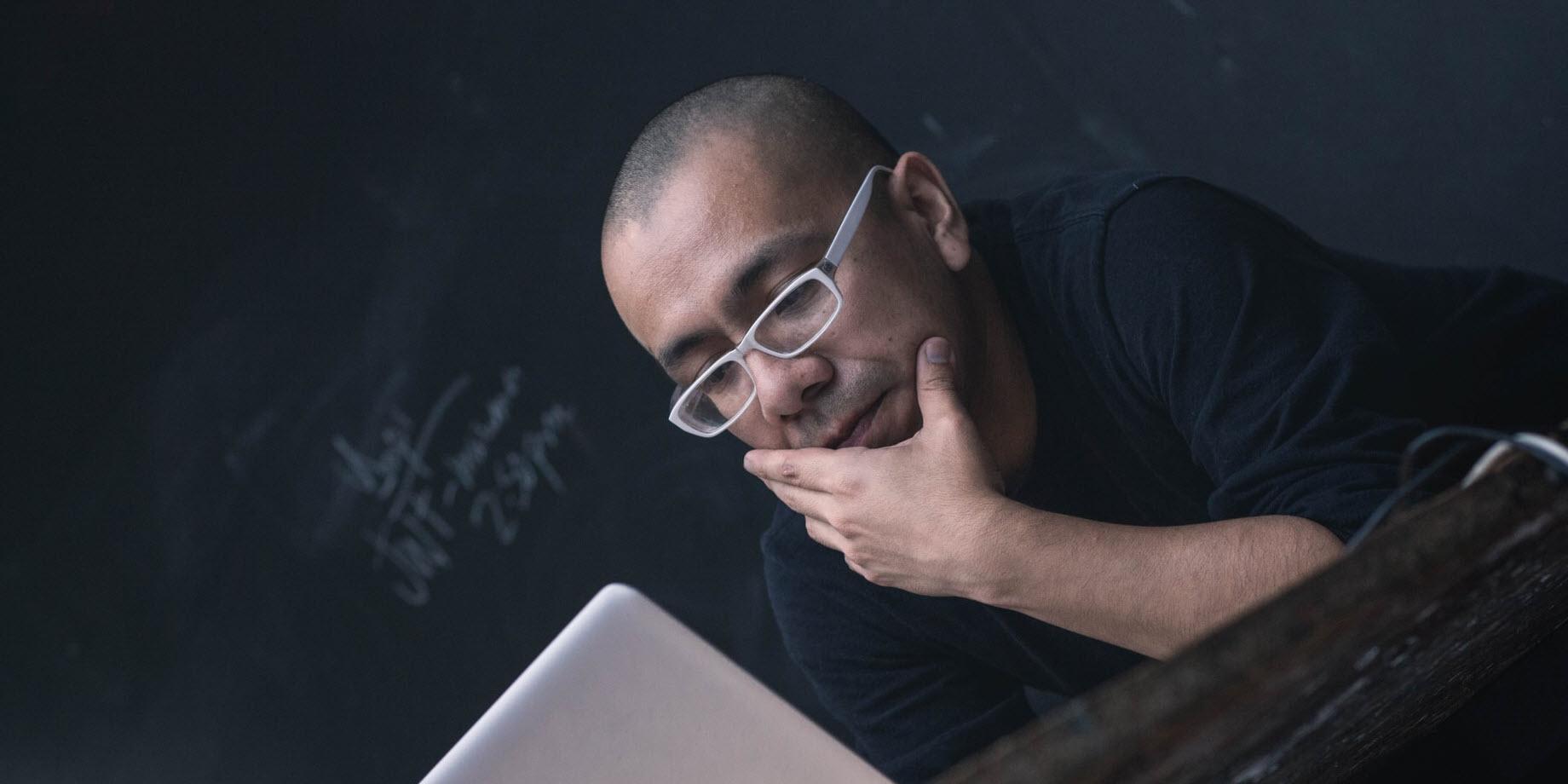 Man testing AI explainability solutions