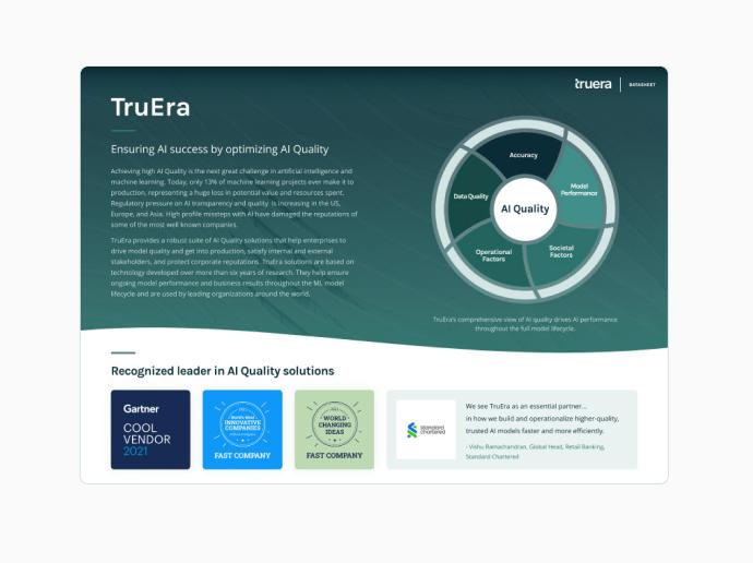 AI Quality Leader TruEra Overview